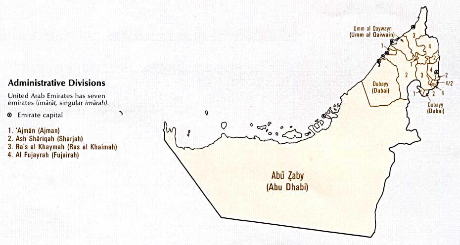United Arab Emirates Maps ecoinet