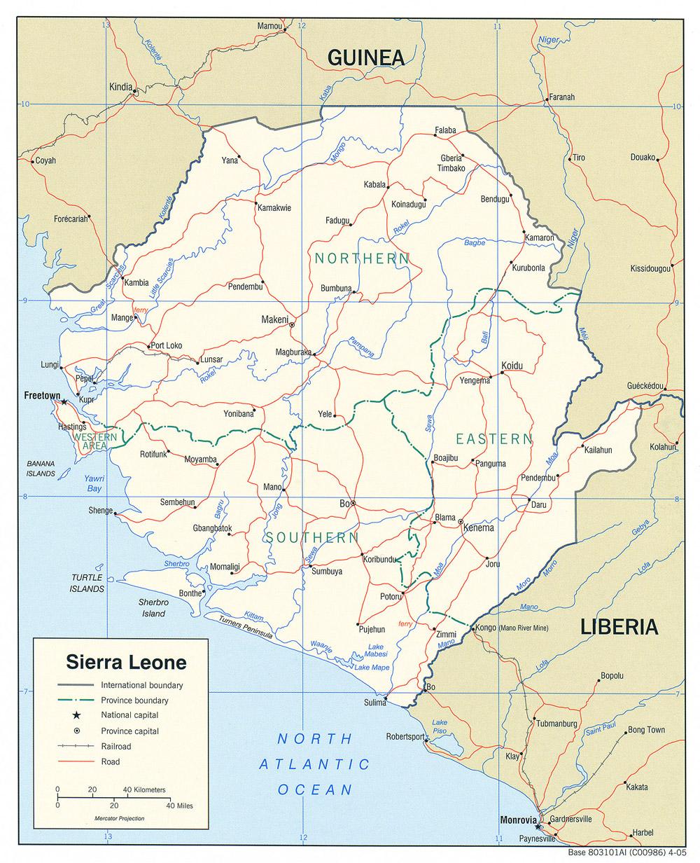 Sierra Leone Maps ecoinet
