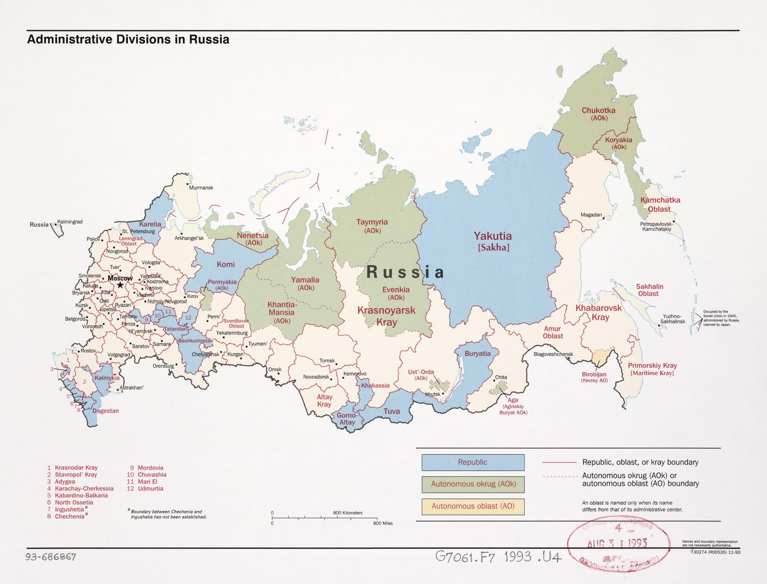 Russian Federation - Maps - ecoi.net