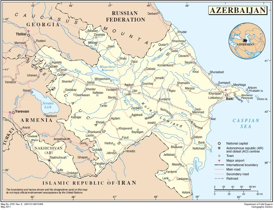 Azerbaijan Ecoinet European Country Of Origin Information Network - Azerbaijan map