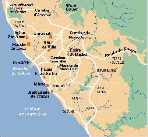 Gabon Maps ecoinet