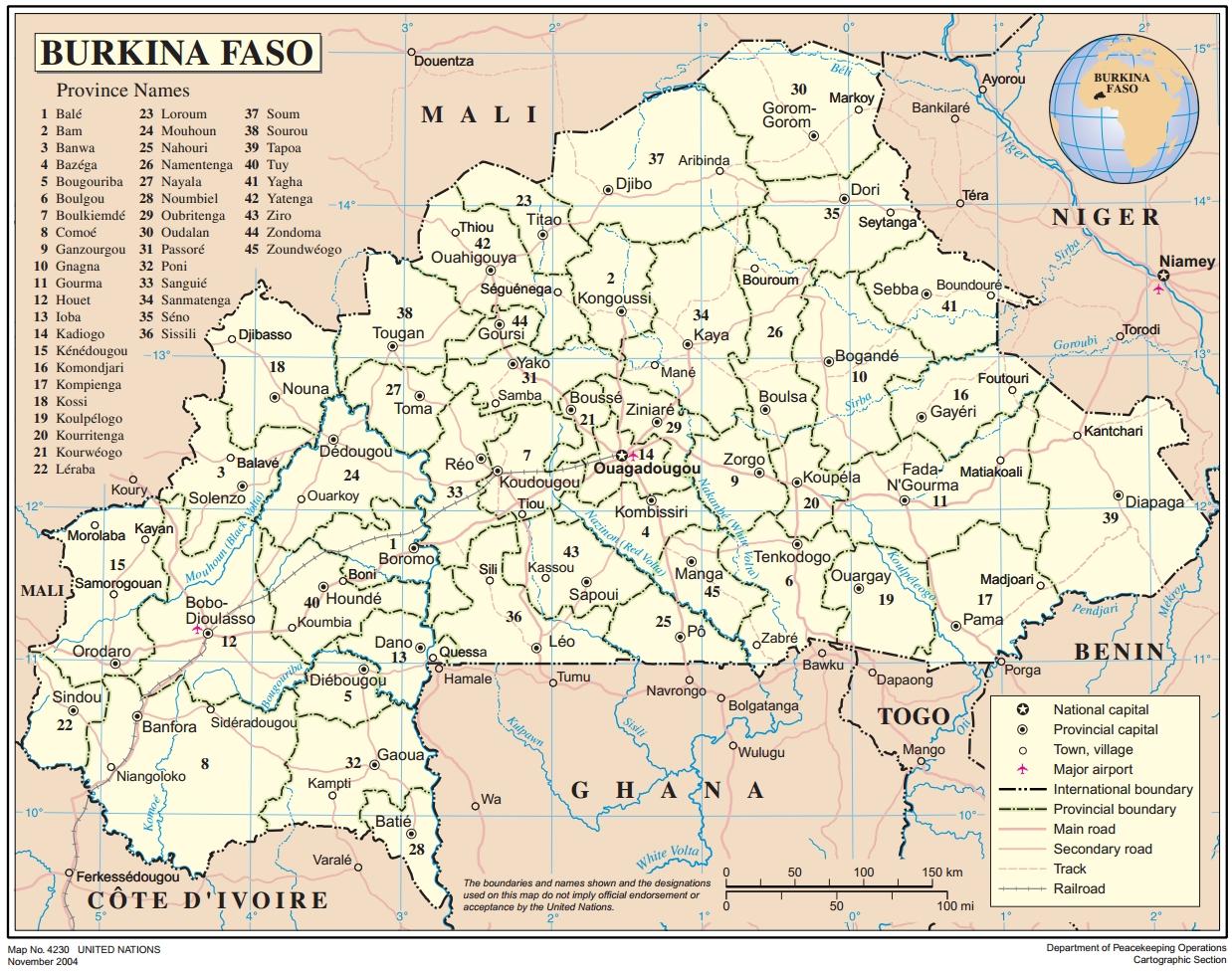 Burkina Faso Maps ecoinet