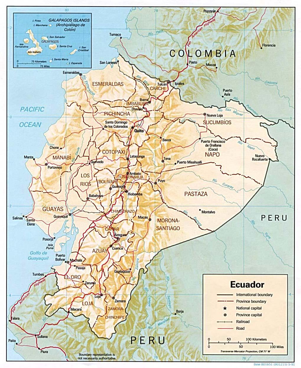 Ecuador Maps ecoinet