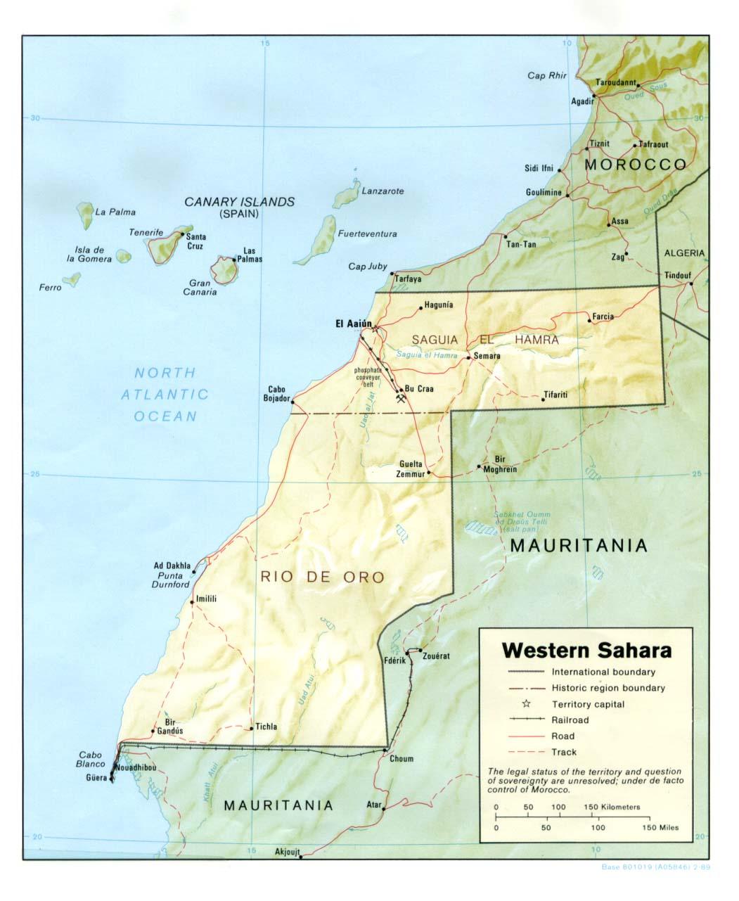 Map Of Africa Sahara.Western Sahara Maps Ecoi Net