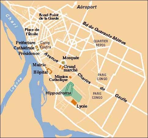 NDjamena map   Now Shop Time N'Djamena Map