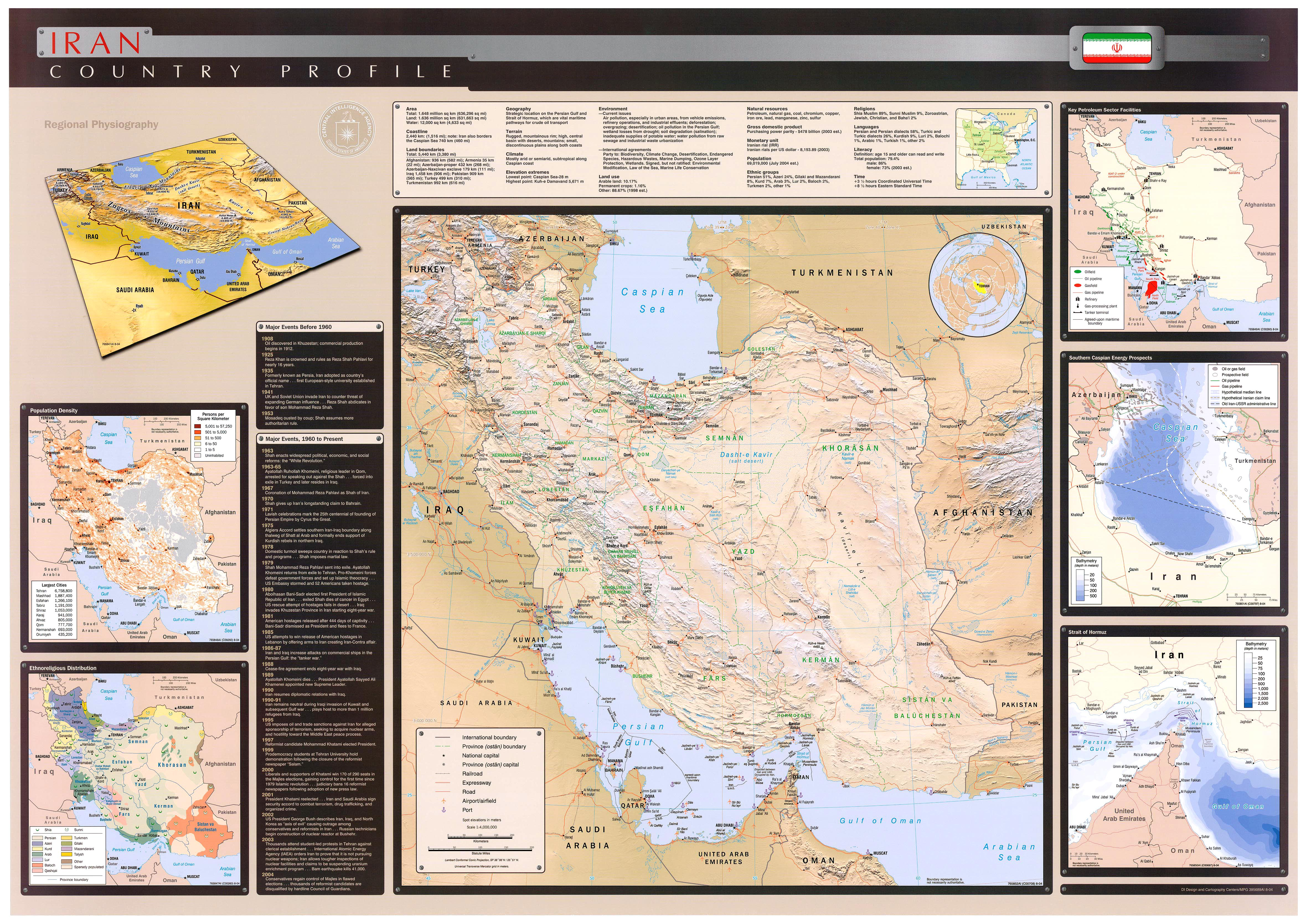 Iran islamic republic maps ecoi map with insets population density ethnoreligious distribution key petroleum sector facilities strait of hormuz gumiabroncs Gallery