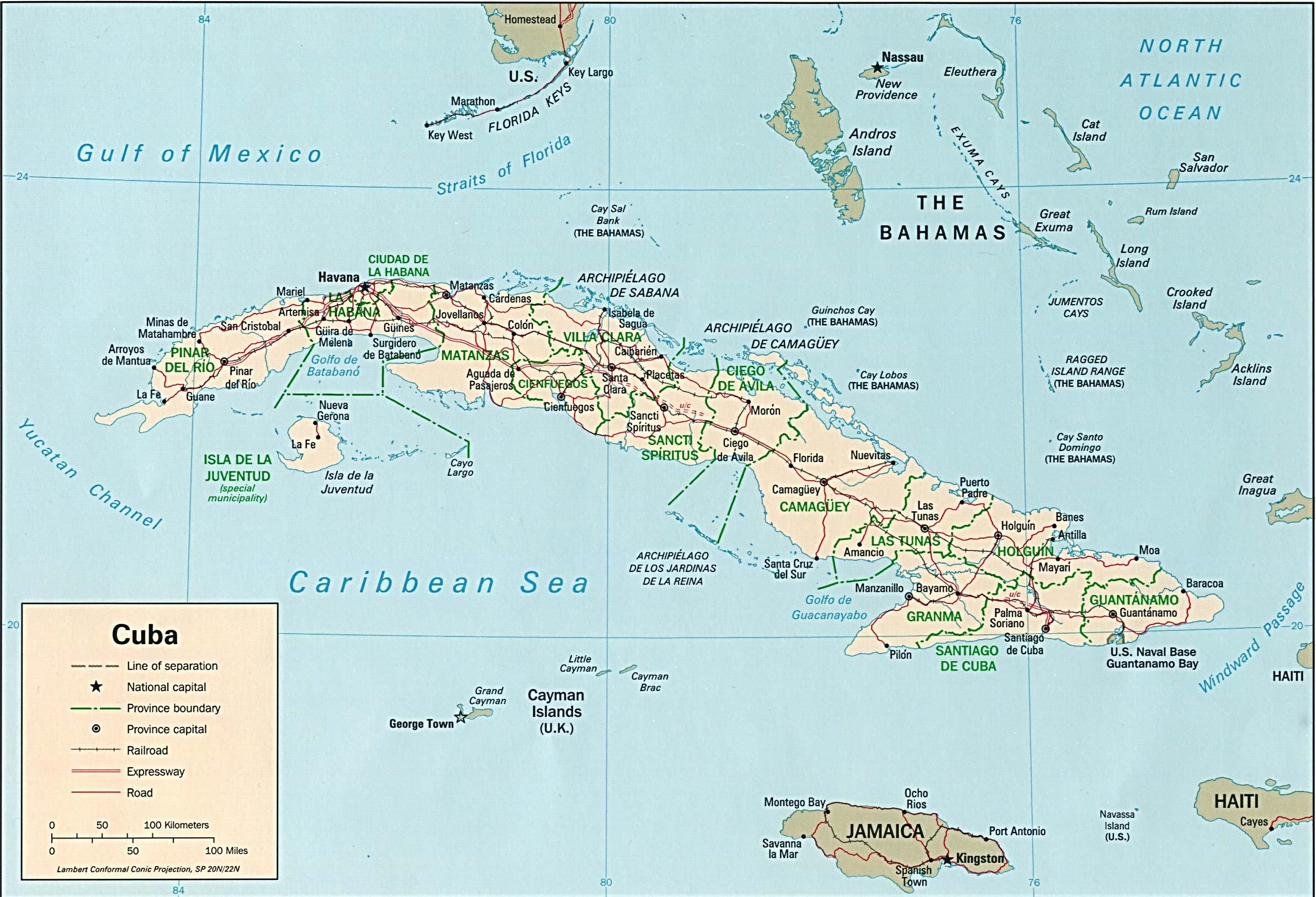 Cartina Geografica Haiti.Cuba Maps Ecoi Net