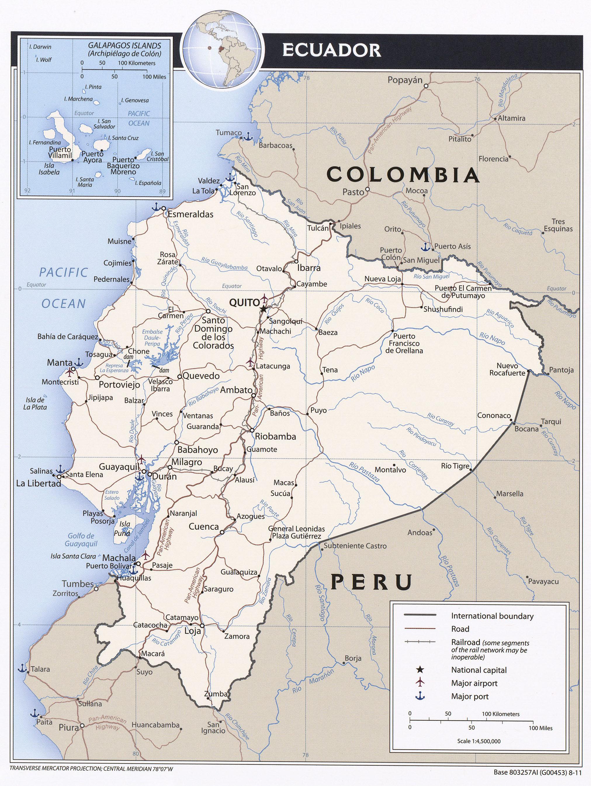 Ecuador - Landkarten - ecoi.net
