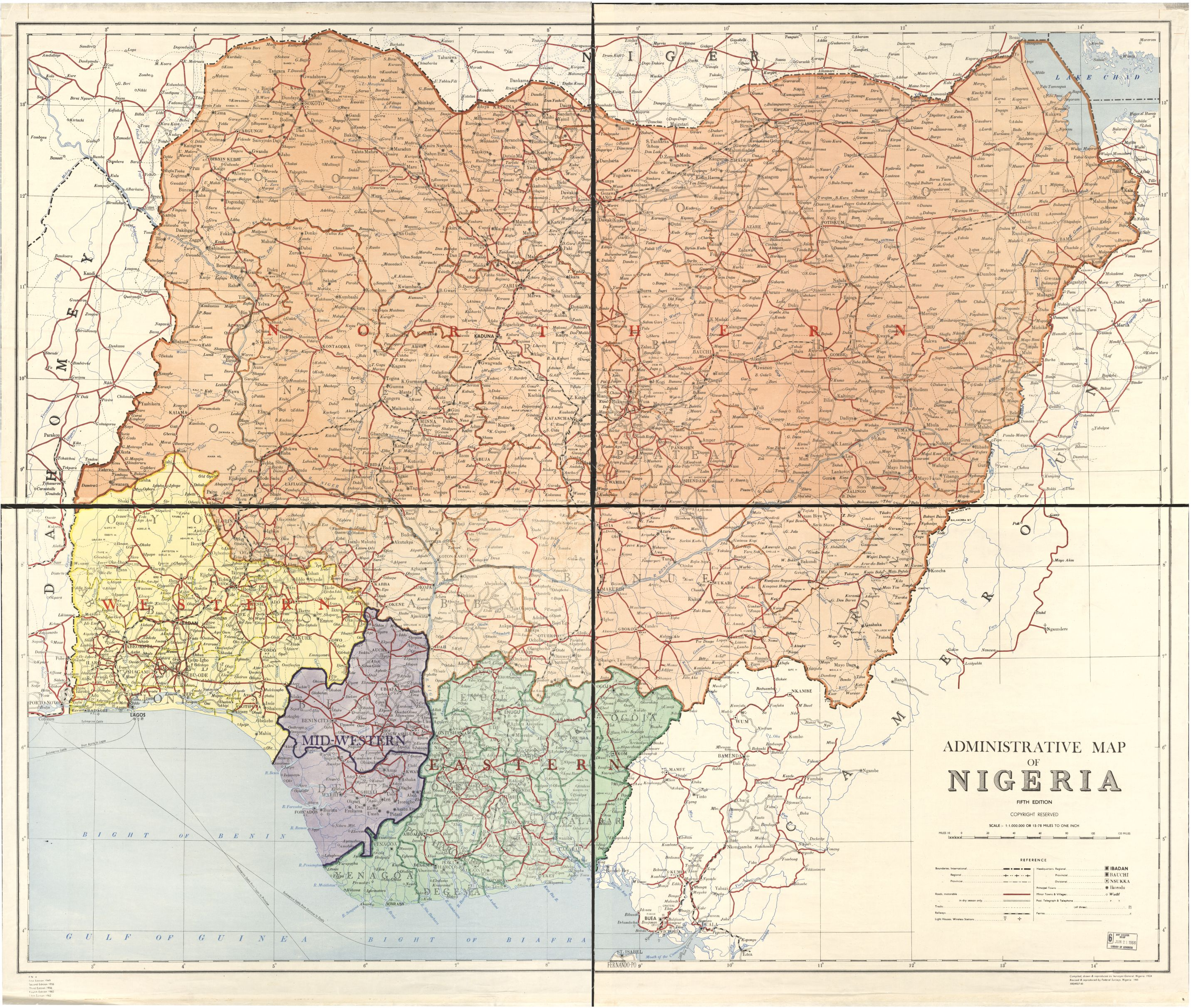 Nigeria Federal Surveys Author published by US Library of