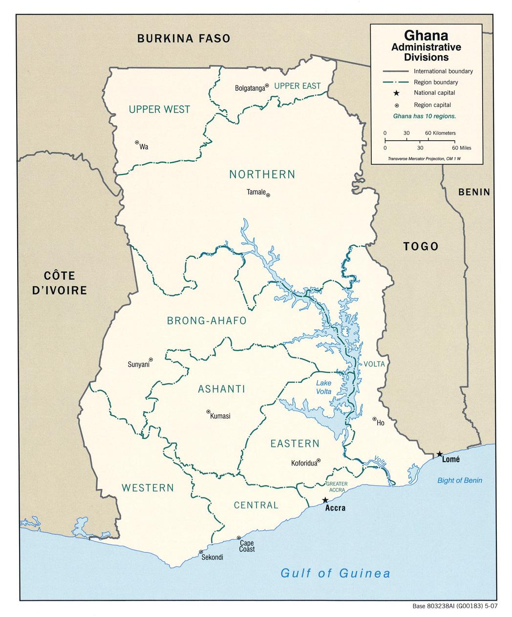 Ghana Ecoinet European Country Of Origin Information Network - Ghana map