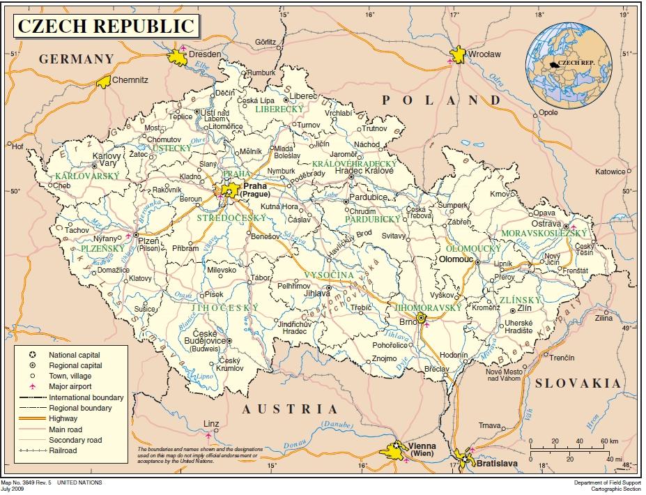Karte Tschechien.Tschechien Landkarten Ecoi Net
