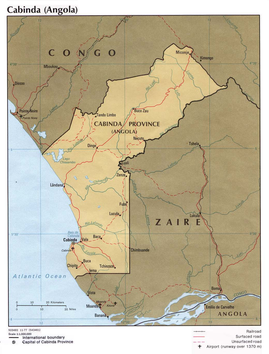 Angola Ecoinet European Country Of Origin Information Network - Political map of angola