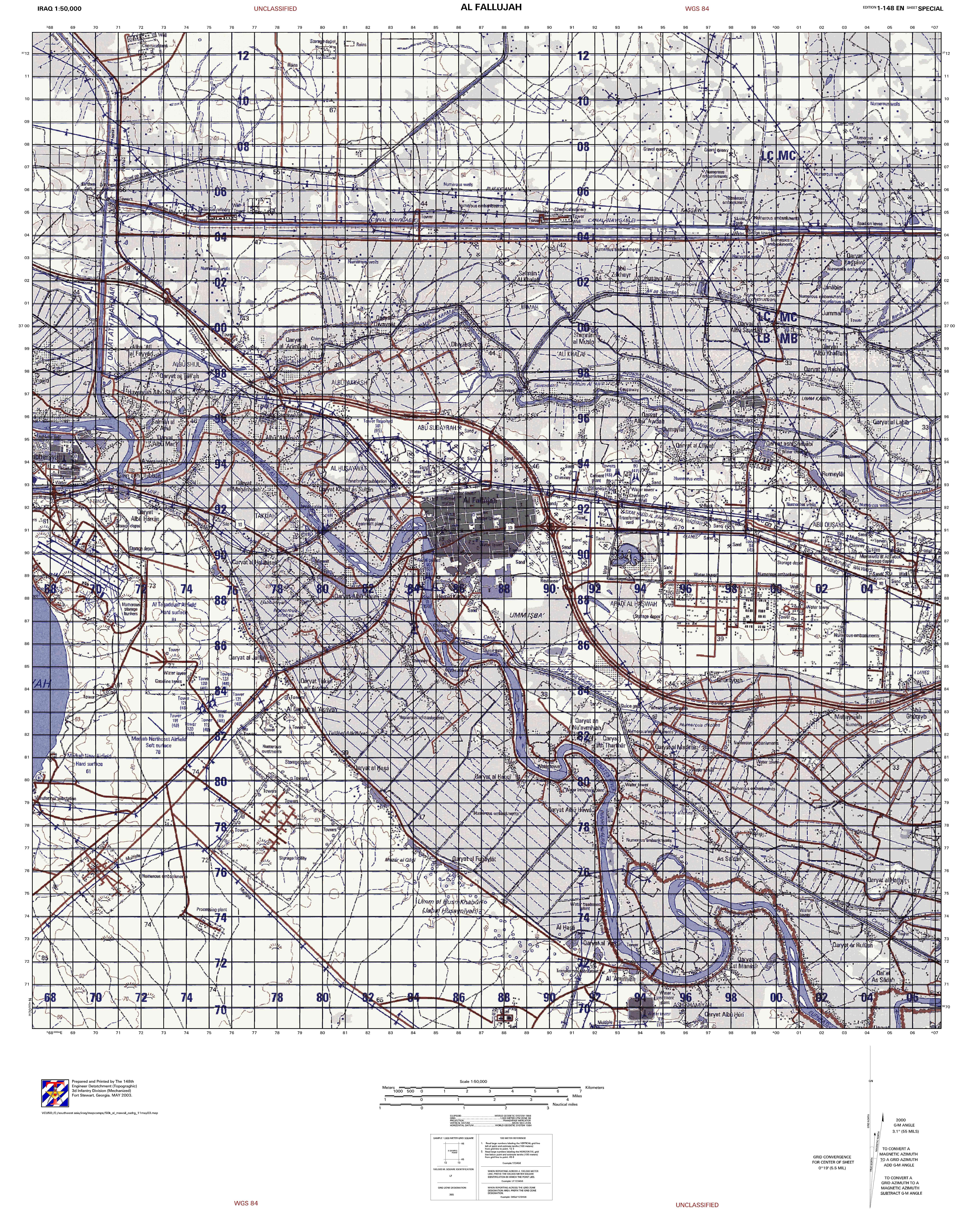 military map of fallujah