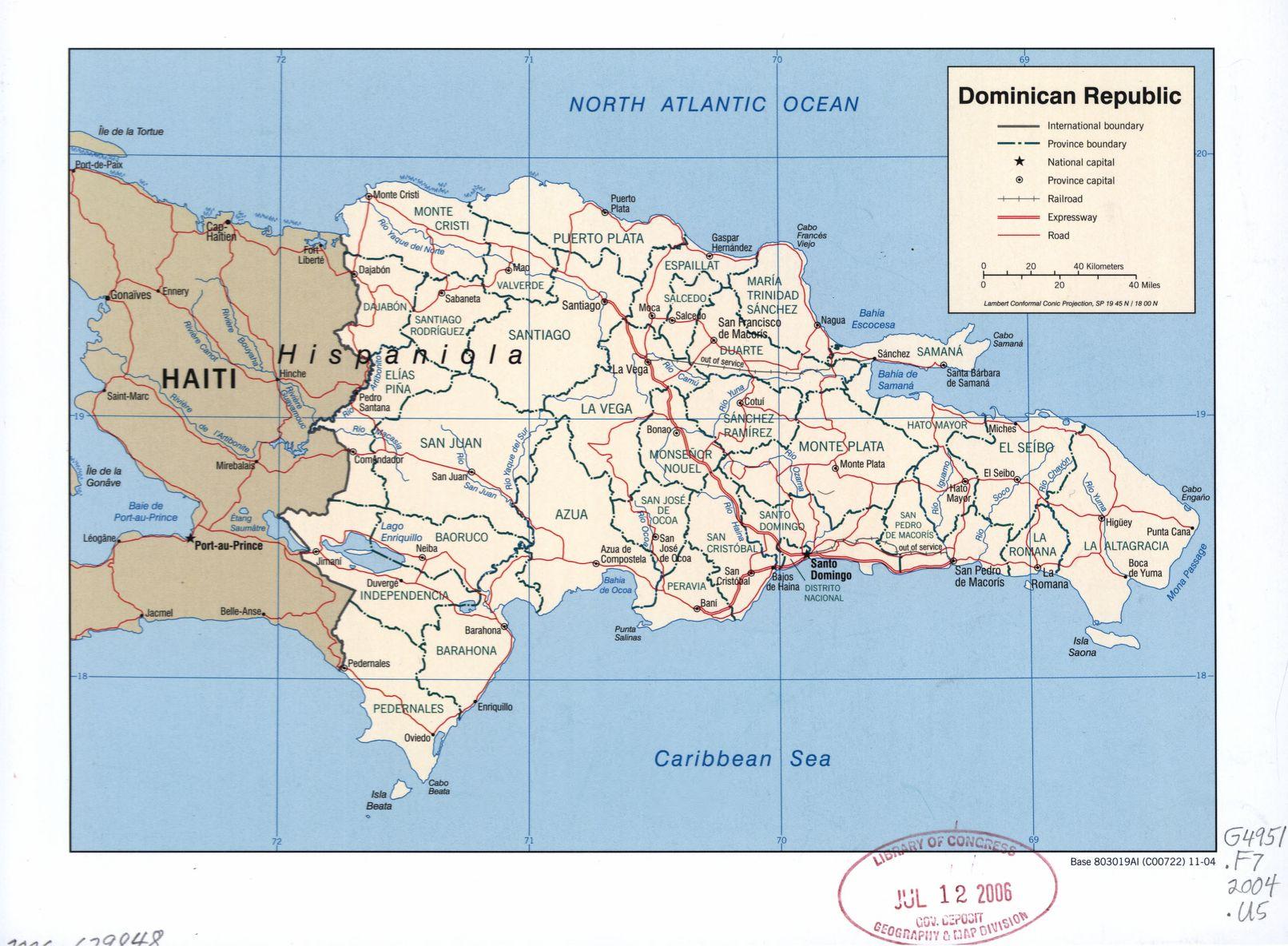 Dominican Republic Maps ecoinet