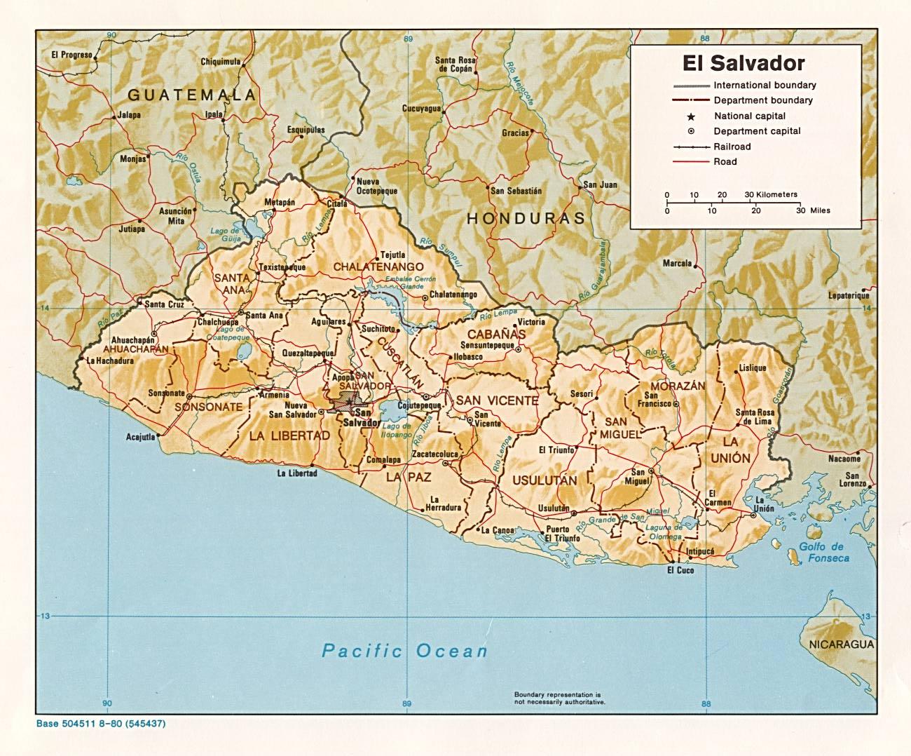 El Salvador Ecoinet European Country Of Origin Information - Political map el salvador