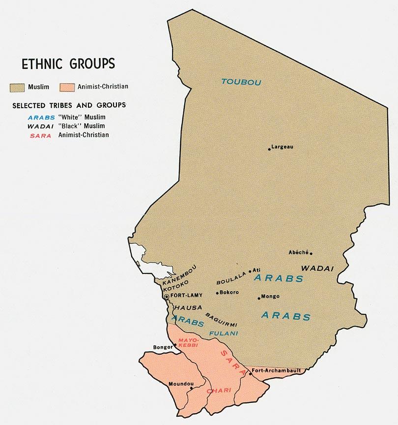 Ubijen dugogodišnji predsjednik Čada samo dan nakon pobjede na izborima 3256_1368618388_chad-ethnic-1969