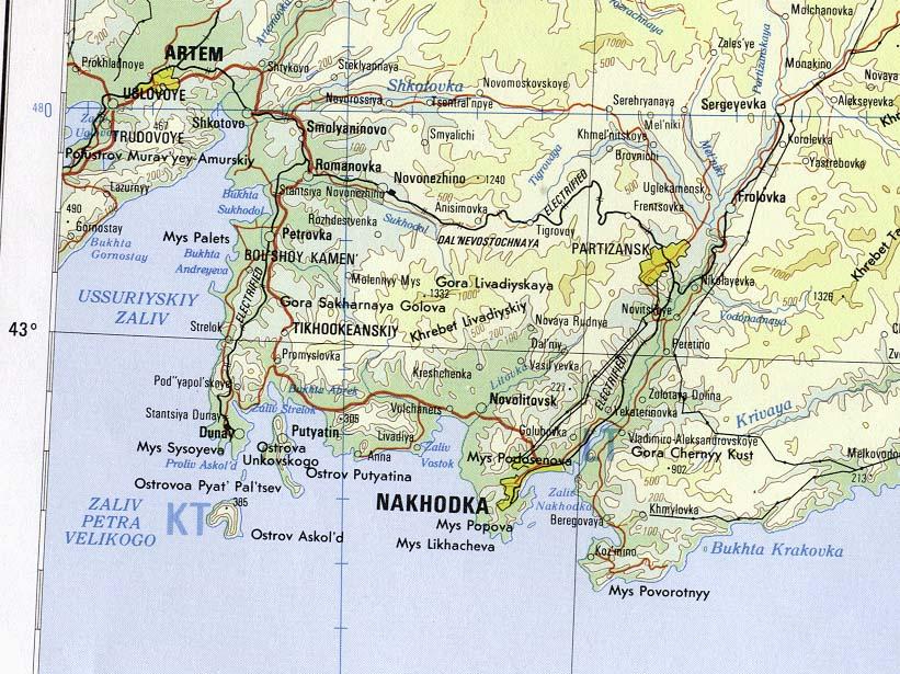 Russian Federation Maps Ecoinet - Nakhodka map