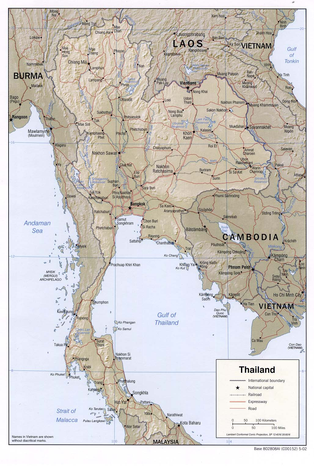 thailand shaded relief 2002