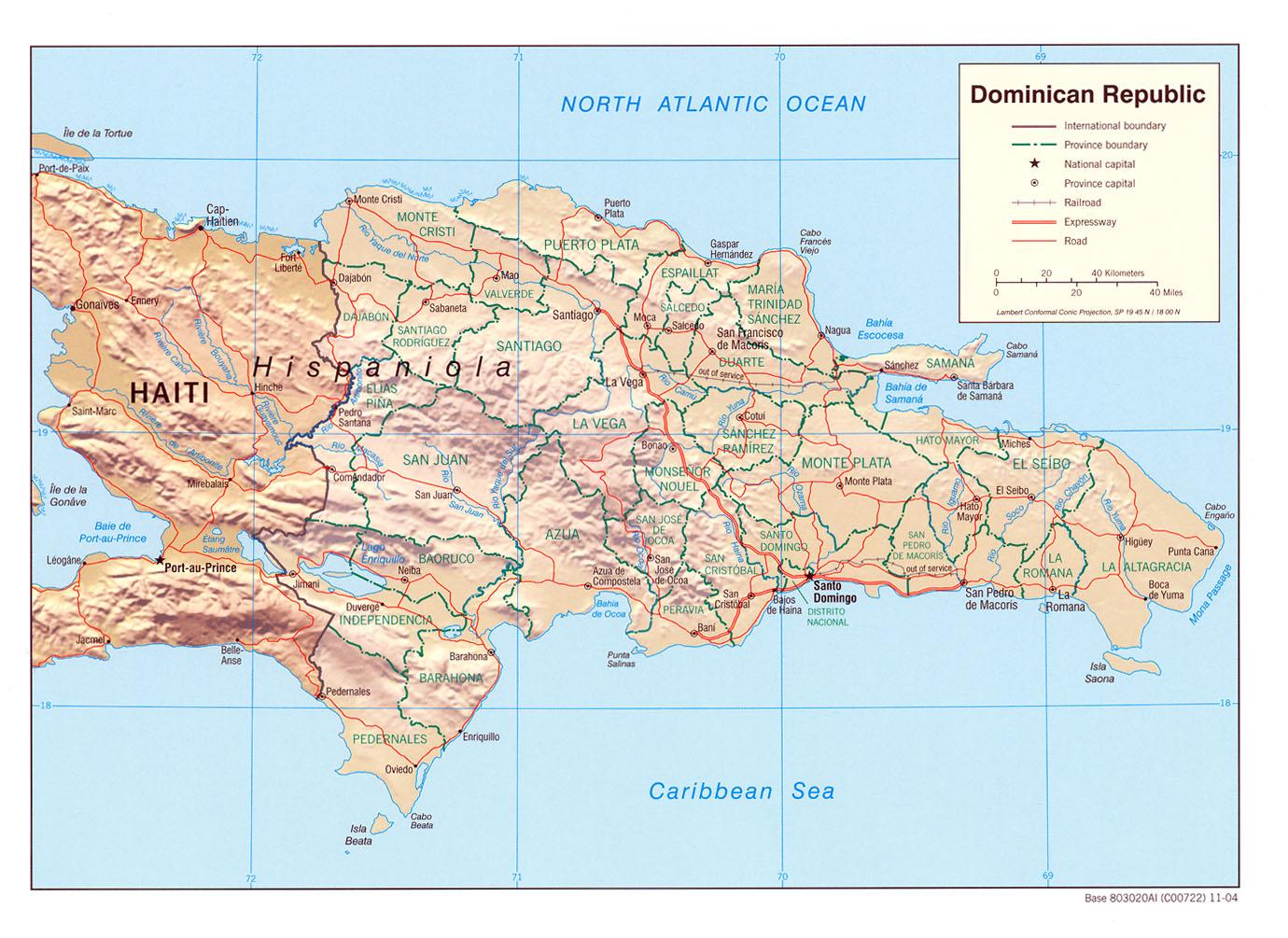 dominikanische republik landkarte Dominikanische Republik   Landkarten   ecoi.net dominikanische republik landkarte