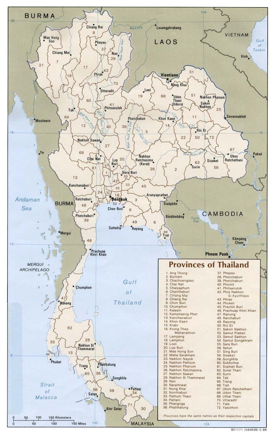 thailand administrative divisions 1988