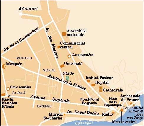 ReliefWeb City map of Bangui Document 1246235 ecoinet