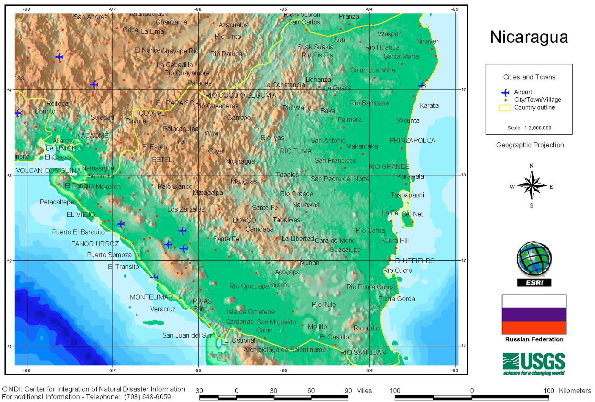Nicaragua Maps ecoinet