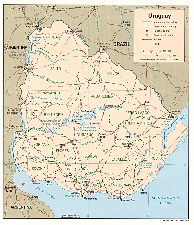 Uruguay Ecoinet European Country Of Origin Information Network - Uruguay map