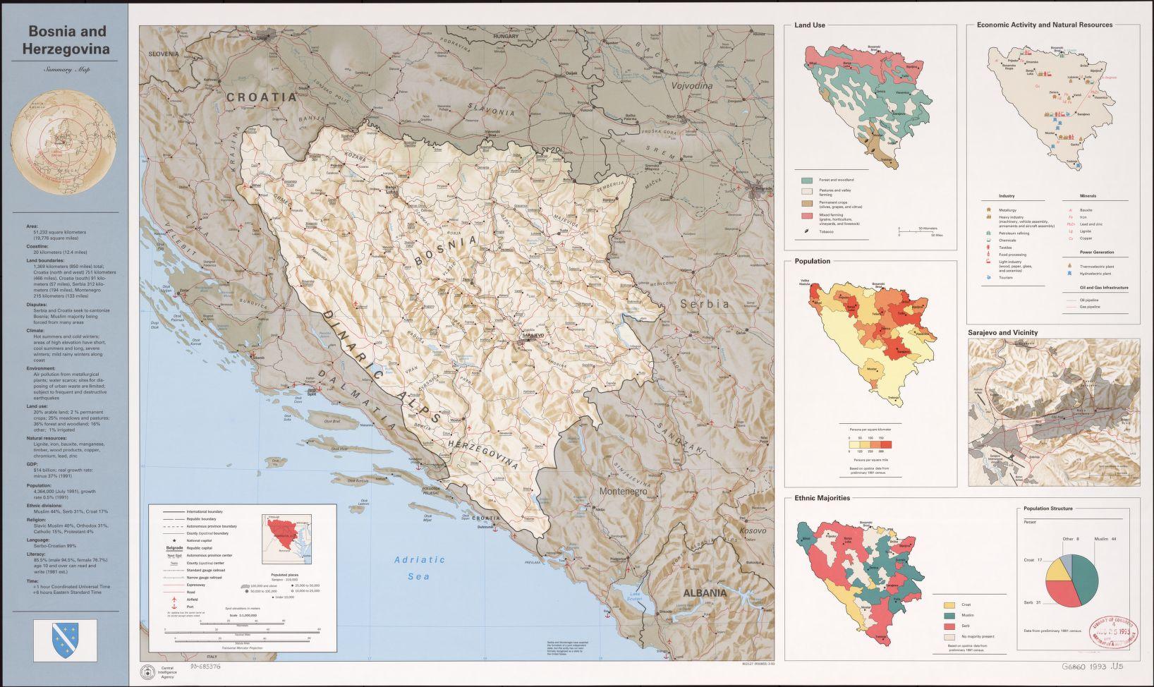 bosnia and herzegovina summary map