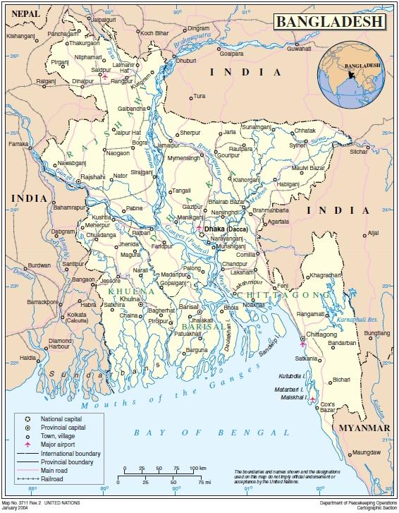Un Cartographic Section Bangladesh Document 1287923 Ecoinet