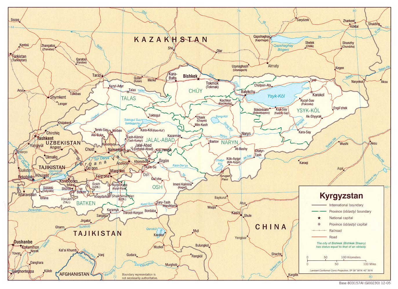 Kyrgyzstan Maps ecoinet