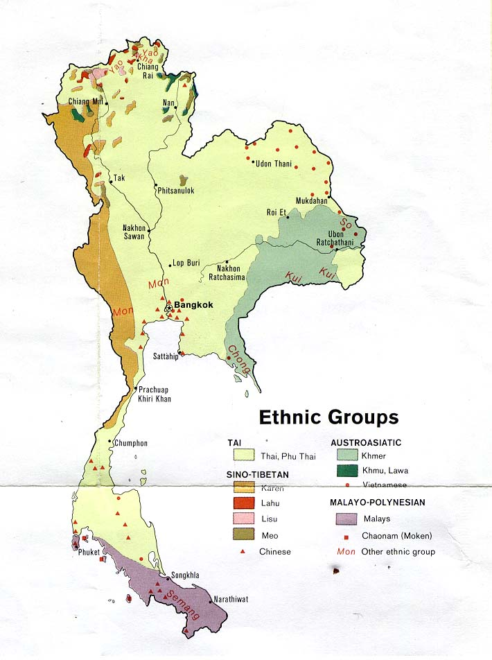 ethnic groups from thailand central intelligence agency 1974