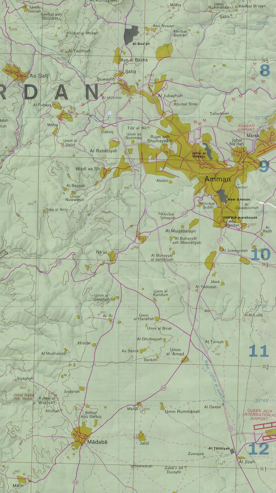 Jordan Political Map.Jordan Maps Ecoi Net