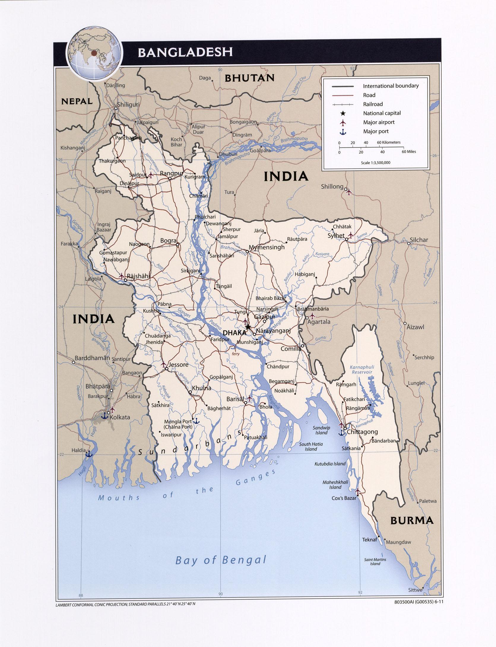 Bangladesh maps ecoi political map of bangladesh gumiabroncs Image collections