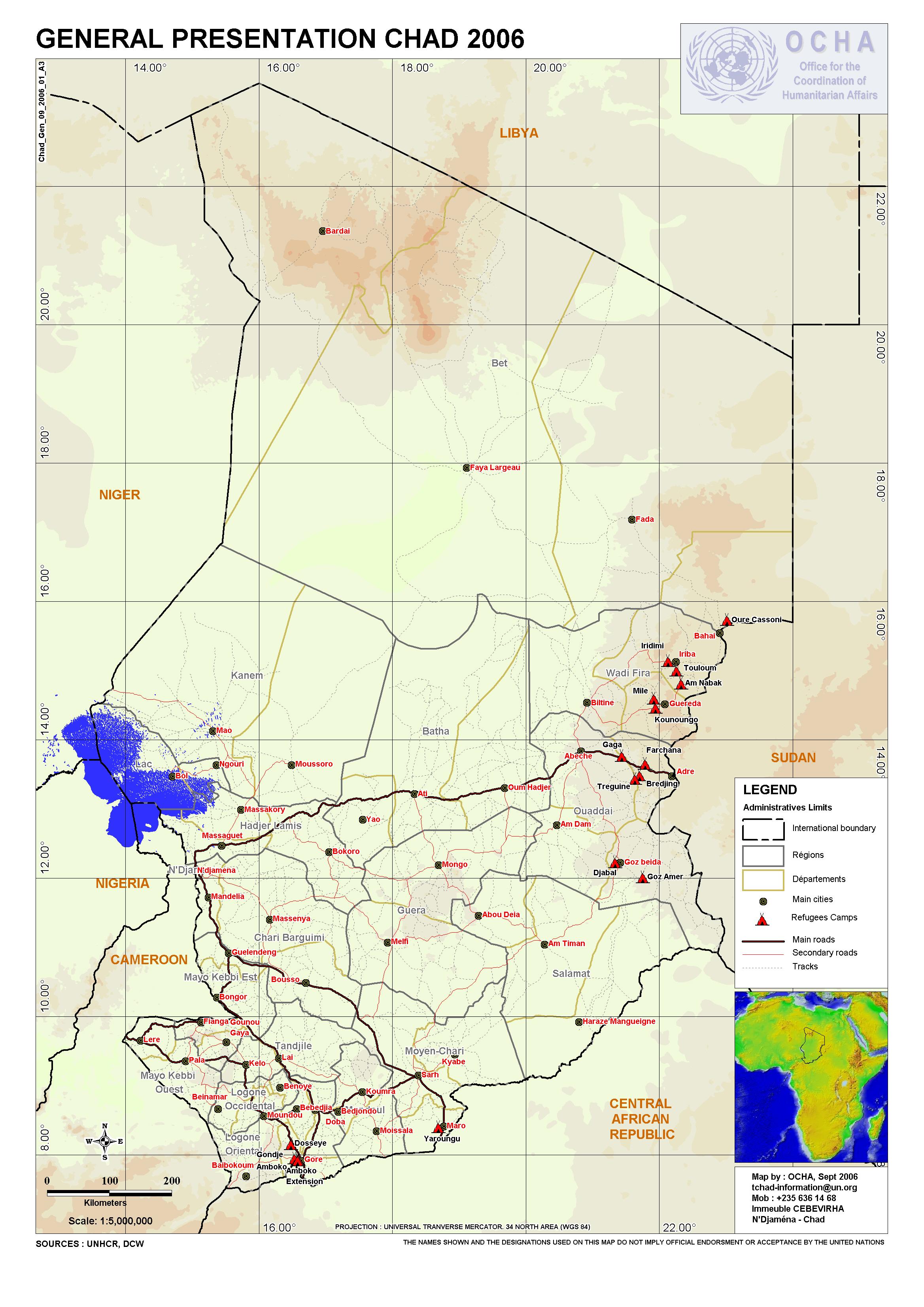 Tschad - Landkarten - ecoi.net on