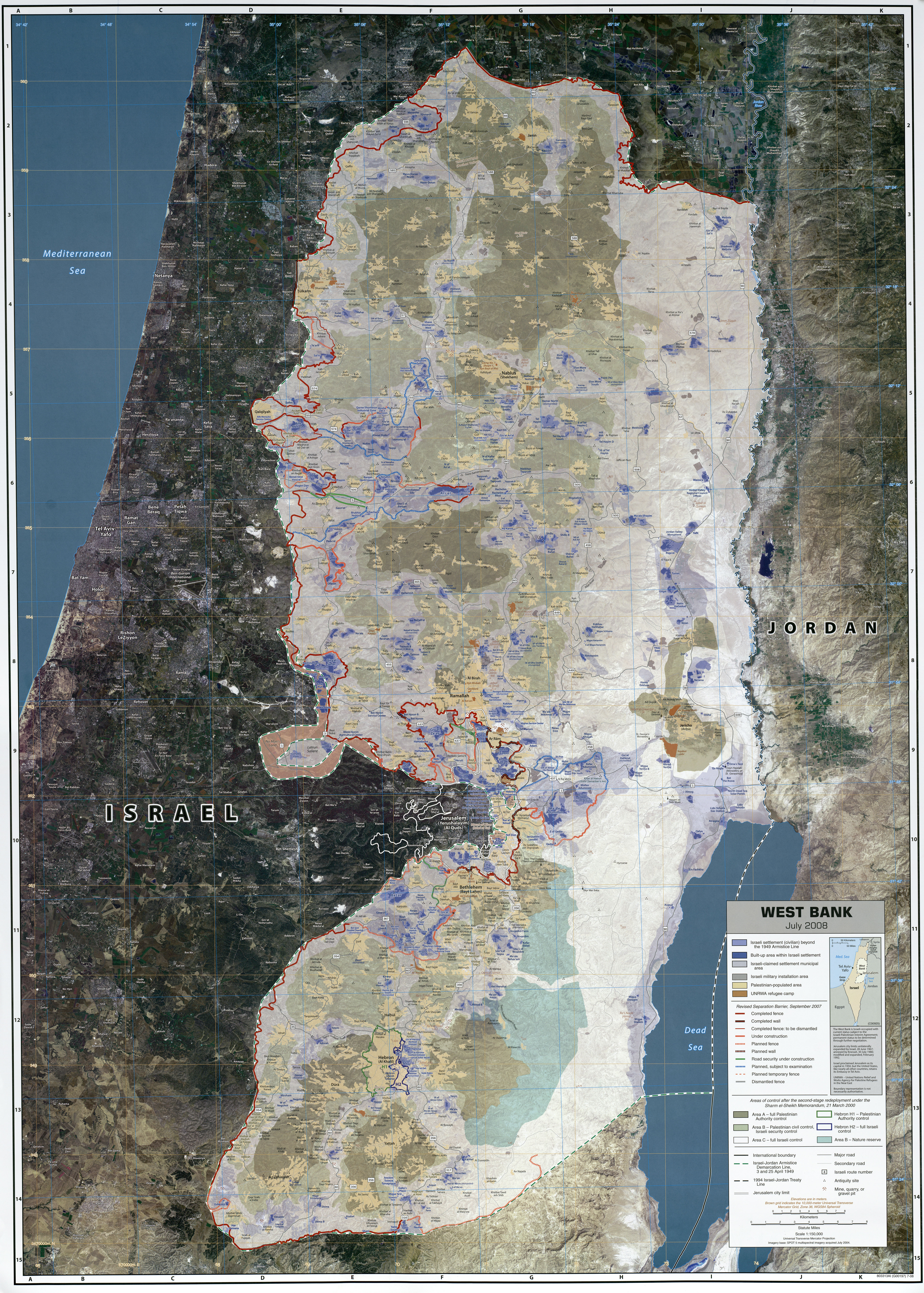 Occupied Palestinian Territory Ecoinet European Country Of - Topographic map of austria 2008