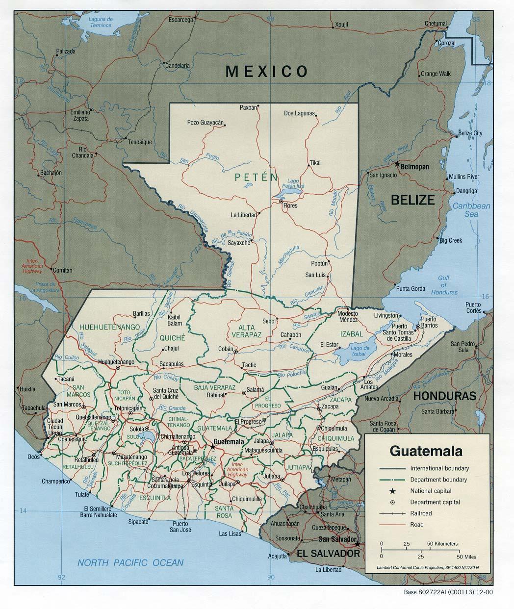 Guatemala Ecoinet European Country Of Origin Information Network - Guatamala map