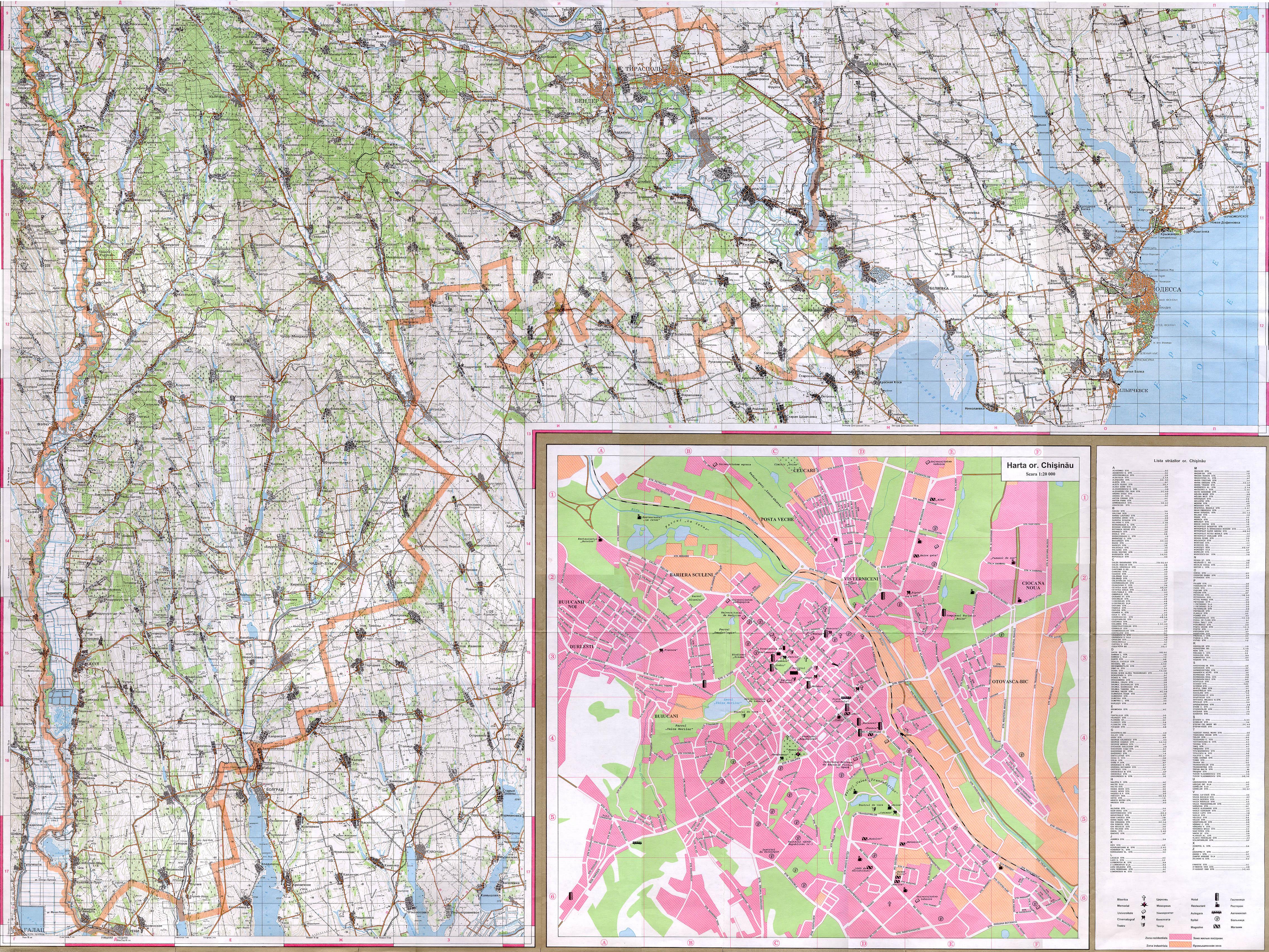 Карта молдовы юг скачать