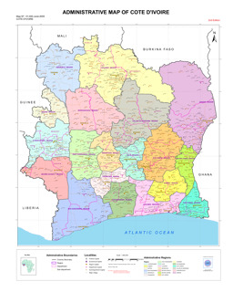 "UN Cartographic Section: ""Administrative Map of Côte D\'Ivoire ..."