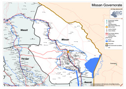 road map of the missan governorate