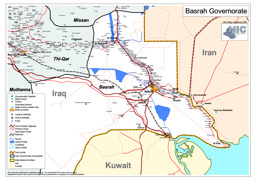 road map of the basra governorate