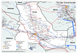 road map of the thi quar governorate