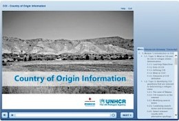 Online course on COI by UNHCR & ACCORD